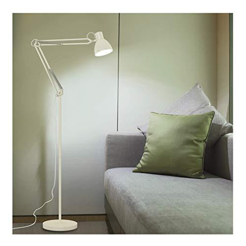 en LED-Stehlampe, amerikanische Wohnzimmer-Schlafzimmer-Studie Augenschutz-Stehlampe, moderne minimalistische Arbeit, die LED-Stehlampe liest (Farbe : Weiß) ()