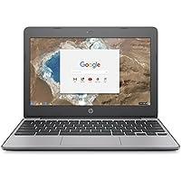 HP Chromebook 11-v000na 11.6-inch HD Laptop (Ash Grey) - (Intel Celeron N3060, 2GB RAM, 16GB eMMC, Intel HD Graphics Card, Chrome OS)