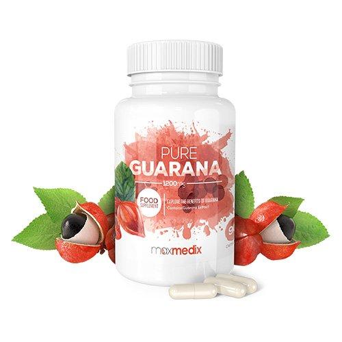 Pure Guarana 1200 Mg Kapseln - Hochdosiertes, Natürliches Nahrungsergänzungsmittel Aus Guarana Extrakt Zum Abnehmen - Tabletten Zur Erhöhung Des Energielevels Und Zur Anregung Des Stoffwechsels