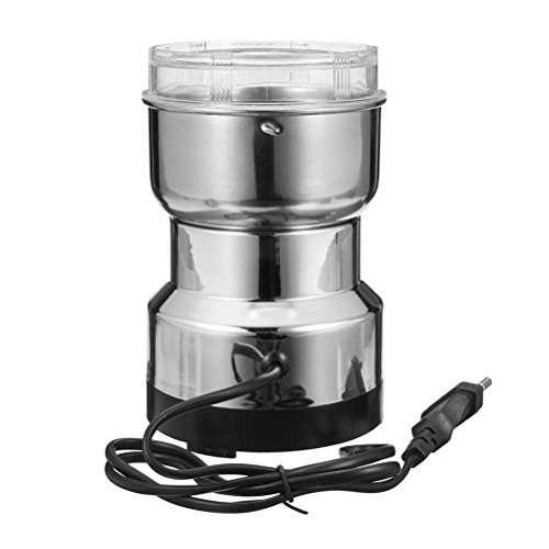 BESTOMZ Molinillo de café eléctrico de Acero Inoxidable para nueces especias semillas o granos