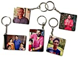 Khushi Gifts - 5 Personalized Photo Key Chain, Customized Photo Key Chain, MDF