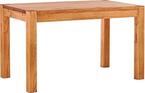 Brasilmöbel Esstisch Rio Kanto 130x80x78 cm Honig - Holz Tisch Pinie Esszimmertisch Küchentisch - vorgerichtet für Ansteckplatten - ausziehbar