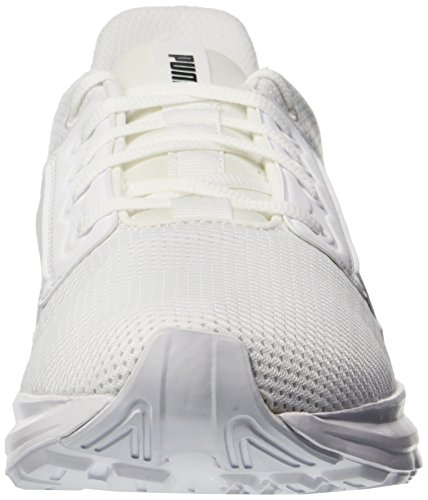 PUMA Men s Enzo Street Sneaker  White Black  8 M US