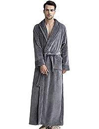 Albornoz Grueso de Invierno Otoño Bata de Baño Kimono Unisex para Hombre Mujer Ropa de Dormir