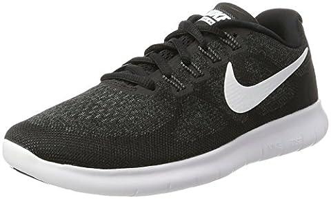 Nike Damen Free Rn 2017 Laufschuhe, Schwarz (Black/White/Dk Grey/Anthracite), 40.5 EU