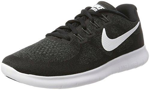 NIKE Free Damen Running-Laufschuhe Sneaker, Schwarz (Black/White-Dark Grey-Anthraci 001), 41 EU