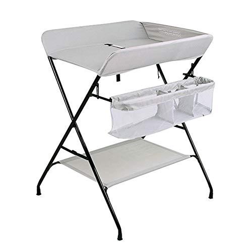Table à Langer Bébé, Organisateur De Pépinière De Stockage De La Station De Couches Pliante pour Nouveau-né, Bleu/Gris (Couleur : Gray)