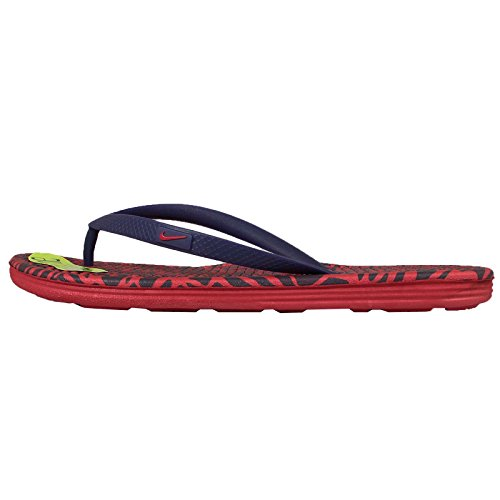 Nike Wmns Solarsoft Thong 2 Print, Tongs Femme Rouge - Rojo (University Red / Loyal Blue)
