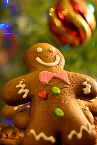 Decorated Gingerbread Man Cookie Holiday Journal: 150 Page Lined Notebook/Diary