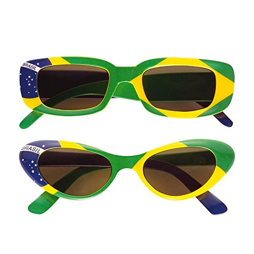 Widmann 6656B - Brille Brasilien, grün / gelb / (Brasilien Motto Kostüm)