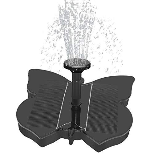 Jamicy® Solar Springbrunnen, Solar Teichpumpe Pumpe Springbrunnen Solar Schwimmender mit 1.4W Wasserpumpe Fontäne Pumpe für Gartenteiche, Fisch-Behälter, Vogel-Bad und Kleiner Teich (Schmetterling)