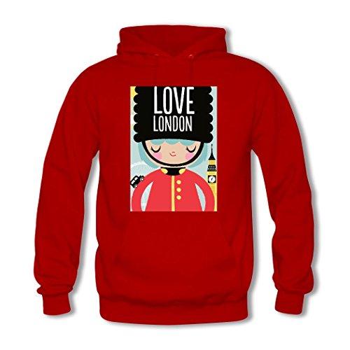 HKdiy London Custom Classic Men Hoodie Red-1