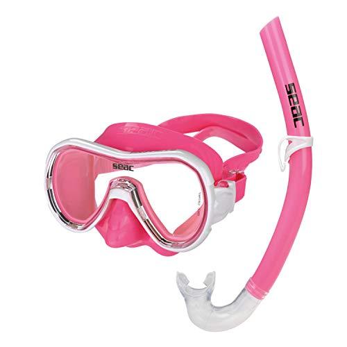 Seac Panarea MD Set de Snorkeling, Unisex niños, Rosa, M