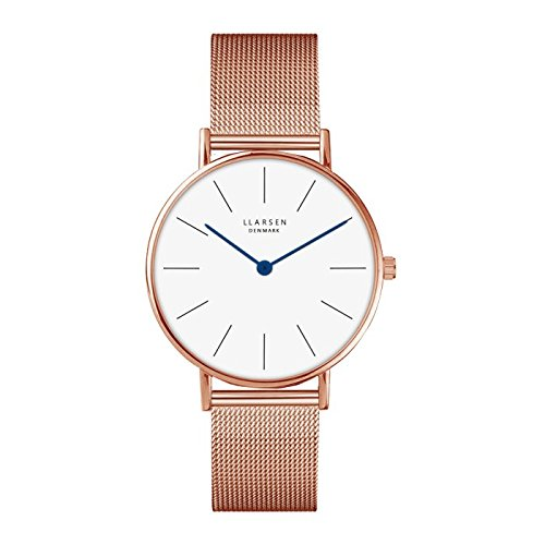 'Lars Larsen Luka Rose Gold con Milanaise 37 mm Watch