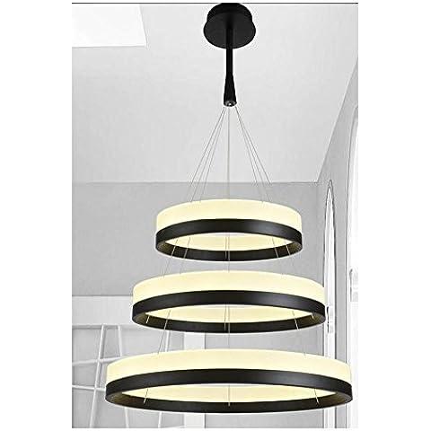 BJVB LED Lampadari acrilico lampadari semplice moderno ristorante camera da letto luci Studio opere illuminazione lampade LED Indoor lampade filo appeso filo
