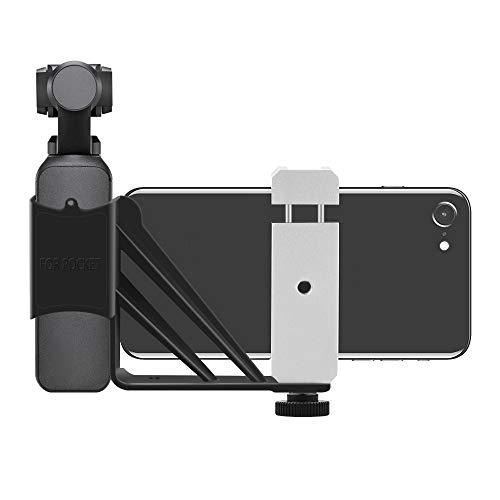 jfhrfged DJI OSMO Pocket Feste Halterung für verlängerte Handyhalterung für das Yuntai Lingbi-Zubehör für die Tasche (Silber)