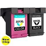 Asonway Remanufacturado HP 301XL 301 (1 Negro, 1 Tricolor) Cartuchos de Tinta Compatible con HP Envy...