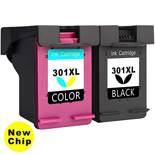 Asonway Remanufacturado HP 301XL 301 (1 Negro, 1 Tricolor) Cartuchos de Tinta Compatible con HP Envy 4500 5530 4508, HP Deskjet 2540, HP Officejet 4630 2620 4636 Impresora