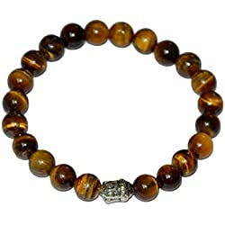 "Aatm Reiki Energiezed Tiger Eye Crystal Gemstone Bracelet ""Stone of Protection & Hormony"""