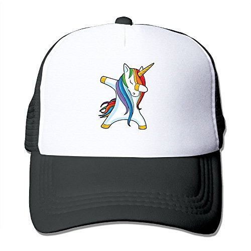 Dabbing Unicorn Adjustable Printing Snapback Mesh Hat Unisex Adult Baseball Mesh Cap