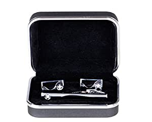 Lodestar Galaxy Gems Boutons de manchette et pince à cravate - ACV-02