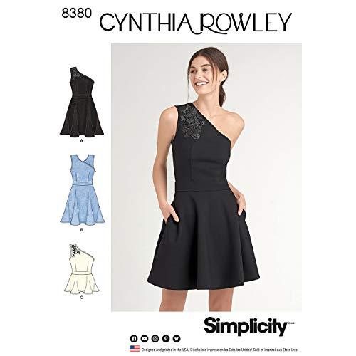 Simplicity Schnittmuster 8380Damen Strick Kleid oder Top, Papier, weiß, 22x 15x 1cm