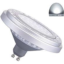 Generic LED regulable GU10AR111bombilla foco 15W 30° Beam ángulo de visión luz fría 6000K-6500K SMD 15LEDs AC175–265V foco reflector luces 1200lm