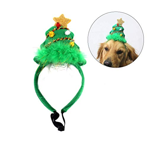 Baby Kostüm Beagle - Amosfun 1pc Christmas Headdress Headwear Head Hoop Kostüm Outfit Dress Up Accessory Photo Prop für Haustiere