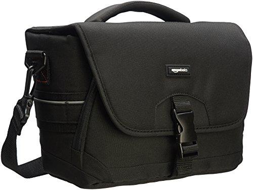 Extra Large Camera Bag (AmazonBasics - Mittlere Schultertasche für SLR-Kamera und Zubehör, Schwarz mit grauer Innenausstattung)