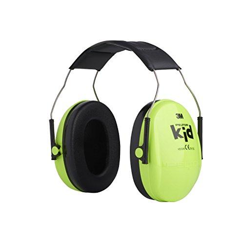 3M Peltor Kid Kapselgehörschützer neongrün / Kinder Gehörschutz mit verstellbarem Kopfbügel für Lärm bis 98dB / SNR 27 Hörschutz mit hohem Tragekomfort & geringem Gewicht - 3