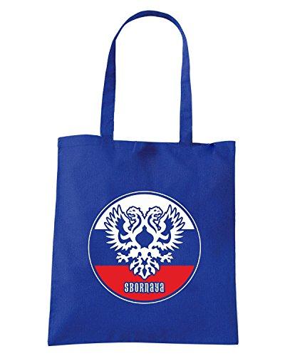T-Shirtshock - Borsa Shopping WC0546 RUSSIA T-SHIRT - SBORNAYA Blu Royal