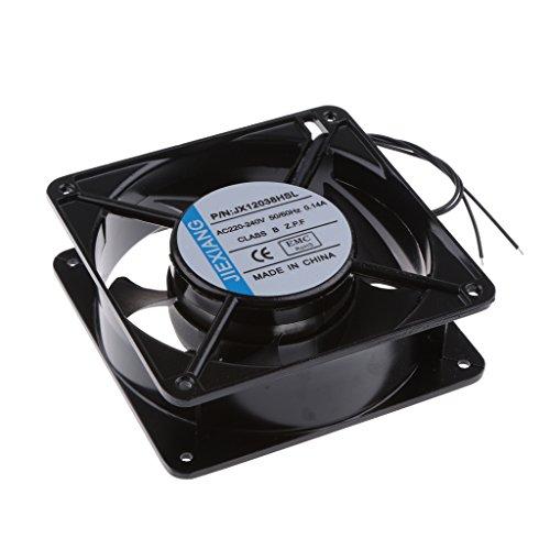MagiDeal 1x Kühlventilator 12cm 220V DC Schrank Lüfter Kühler Kit für Industrielle Computer