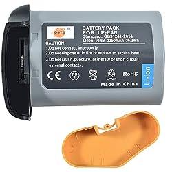 DSTE® 10.8V 3350mAh LP-E4N(LP-E19) LI-ION Batterie Remplacement pour Canon EOS-1D X Mark II,EOS-1D X,EOS-1D Mark IV,EOS-1Ds Mark III,EOS-1D Mark III Caméra