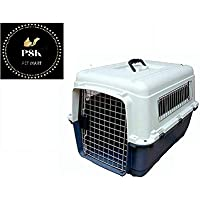 PSK Iata Approved Plastic Flight Cage for Pets - Blue & White - 36 Inch