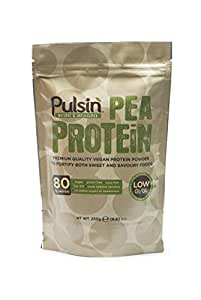 Pulsin' Unflavoured Pea Protein Powder (250g) | 82% Protein | Natural | Vegan | Low Carb