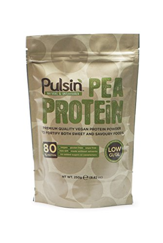 Pulsin' Unflavoured Pea Protein Powder (250g) | 82% Protein | Natural | Vegan | Low Carb Test