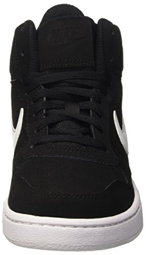 Nike Wmns Court Borough Mid, Chaussures de Sport-Basketball Fille Blanco (Blanco (black/white))