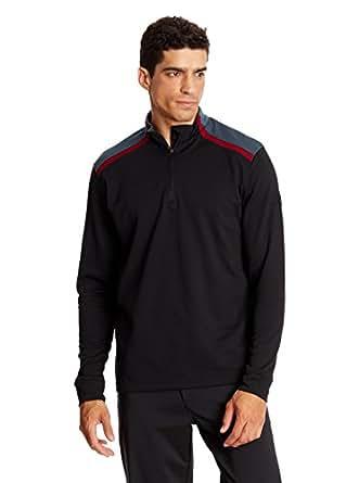 2015 Mizuno Shiki Quarter Zip Thermal Pullover Mens Golf Cover-Up Black Large