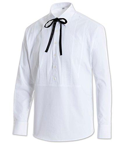 Stars & Stripes Old Style Westernhemd Joseph weiß Vintage Oldstyle Westernkleidung Westernbekleidung Grandfatherhemd (Medium) Weiß