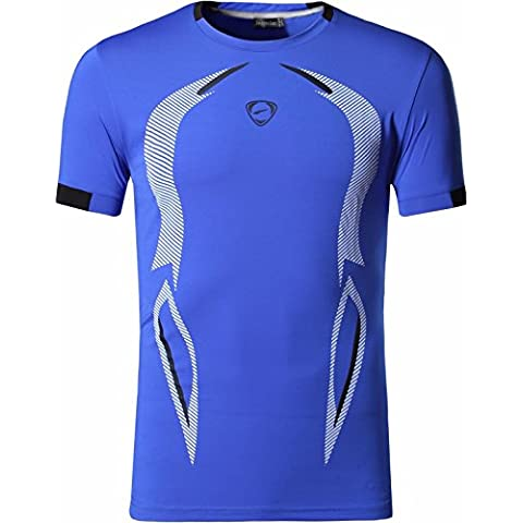 Jeansian Hombres Verano Deportes Wicking Transpirable Quick Dry Short Sleeve T-Shirts Tops Running Training Tee