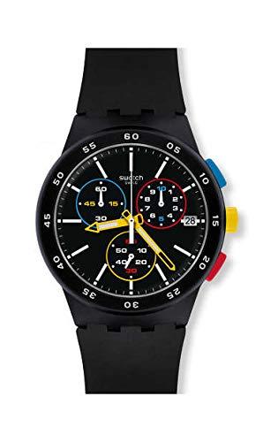 Swatch Reloj Cronógrafo para Hombre de Cuarzo con Correa en Silicona SUSB416