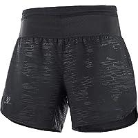 SALOMON XA Short W Shorts Deportivos 2-en-1 con Slip Integrado, Mujer, Negro (Black), L