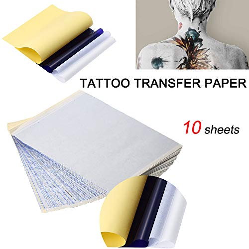 (Gaddrt 10x Tattoo Transfer Papier Schablone Carbon Thermal Tracing Hectograph Sheet Tätowierungspapier)