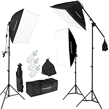 CRAPHY Professional 3x135w Photo Studio Softbox Lights Continuous Lighting Kit with Boom Arm for Photography -  sc 1 st  Amazon UK & CRAPHY Professional 3x135w Photo Studio Softbox Lights: Amazon.co ... azcodes.com