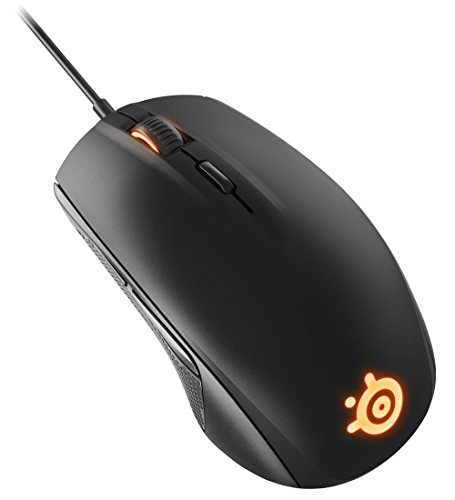 SteelSeries Rival 100, Souris Gaming Optique, Illumination RGB, 6 Boutons, (PC / Mac) - Noir