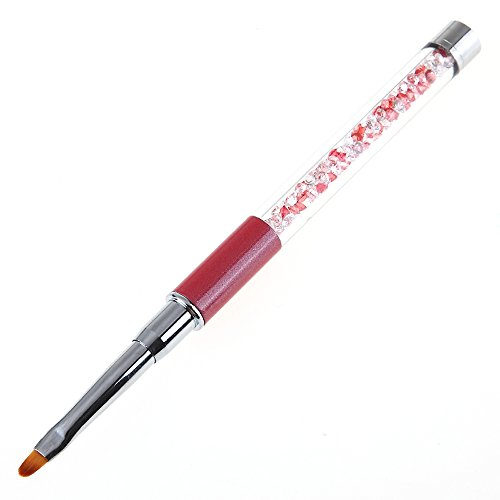 Tongshi UV Gel Pen Nailart Pen schnitzen Pinsel Acryl Griff Salon Werkzeug (rot) - Nylon-gel-pinsel