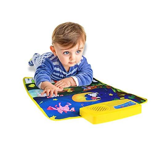 XULONG Music Play Matte, Piano Kids Keyboard Toys für 1 Jahr Old Boy Educational Baby Bath Toys Piano Play Mat 0-6 12 Monate