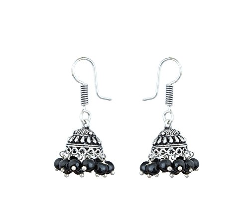 Jhumka Earring (Black)  available at amazon for Rs.89