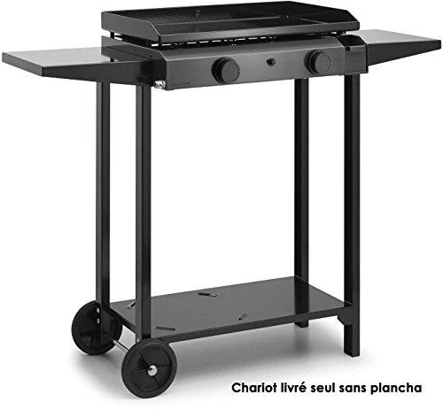 Forge Adour - chba60 - Chariot pour plancha Noir