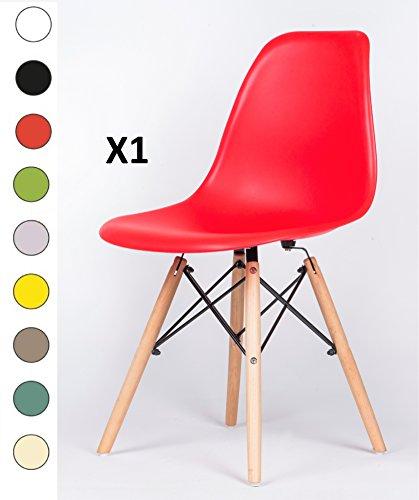 Millhouse Eiffel hochwertiger Stuhl im Retro-Design, fürs Esszimmer / Büro, als Beistellstuhl oder Vorzeigestück. rot